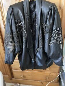 vintage 80s leather jacket Size 16/18
