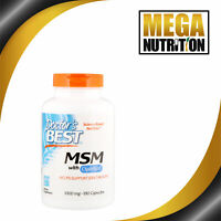 Doctor's Best Best MSM 1000mg 180 Capsules | Joint Health Mobility Antioxidant