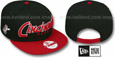 Reds 'SNAP-IT-BACK SNAPBACK' Black-Red Hats by New Era