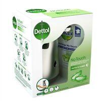 DETTOL No touch kit - Distributeur Automatique Effet Inox + Recharge Savon antib