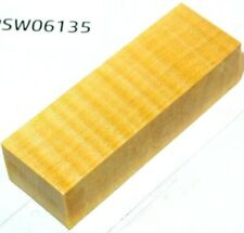 Riegel Ahorn farblos stabilisiert | 120x40x30 | puq stabwood | flamed maple 6135