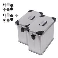 Alu Seitenkoffer Bagtecs 2 x 34l + Adapter für 16mm Kofferträger (Paar)