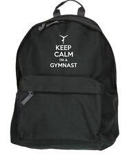 Keep Calm I'm a Gymnast Gymnastics kit bag backpack ruck sack school