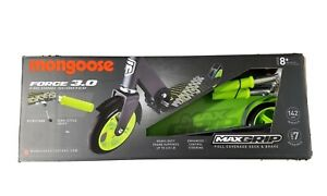 Mongoose Force 3.0 Folding Scooter Max Grip  Heavy Duty  -  Green / Black