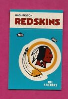 1987 WASHINGTON REDSKINS  NFL FOOTBALL STICKERS  NRMT-MT CARD (INV# A3131)