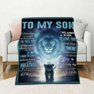 Letter Blankets To My Son Love DAD Soft Blanket I Love You Gifts