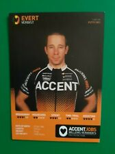 CYCLISME carte cycliste EVERT VERBIST équipe ACCENT.JOBS 2012