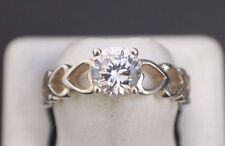 Sterling Silver 925 DQ CZ Korea Ring Size 7.75