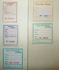 Collection of Florida Egg Taxpaid Revenue Stamps