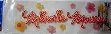 NEW 10 pc MINNIE MOUSE  Flowers Glitter DISNEY  3D Title Stickers EK SUCCESS