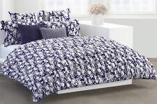 5-Pc DKNY Flowering Willow Indigo KING Duvet Set Shabby Chic Floral Purple White