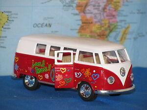 1/32 KINSMART VW 1962 VOLKSWAGEN CLASSICAL BUS LOVE & PEASE KT5060 *BRAND NEW*