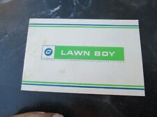 Vintage Lawn-Boy Lawnmower - Outboard Marine Co. - Pamphlet Booklet Manual