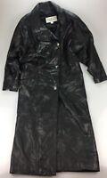 La Nouvelle Renaissance SOFT Black Leather Long Trench Coat Jacket Women's SMALL