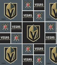 VEGAS GOLDEN KNIGHTS NHL HOCKEY 100% COTTON FABRIC MATERIAL CRAFT BY 1/2 YARD