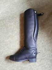Ladies equestrian boots black Ariat Bromont Tall H2O size 3 leather suede