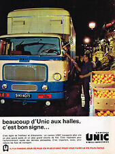 PUBLICITE ADVERTISING 114  1963  UNIC  camions poids- lourds
