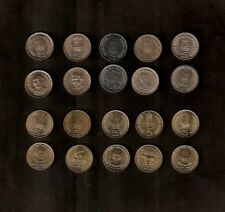 SET INDIA 5 RUPEES 2003-2010 COMMEMORATIVE UNC 10 DIFFERENT COIN COLLECTION ASIA