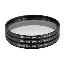 ZOMEI 49mm Star-Effect Starburst 4+6+8 Points Lens Filter for Cameras