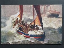Royal National Life Boat Inst. THE RED CROSS OF THE SEA - Art by B.F.Gribble
