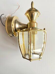 HeathZenith Wall Mount 150° Brass Motion Sensing Outdoor Lantern Mdl 4170