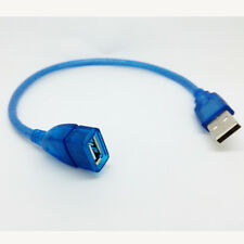 30CM USB 2.0 USB Male TO Female Extension Cord Cable For PC MAC Laptop blue 1ft