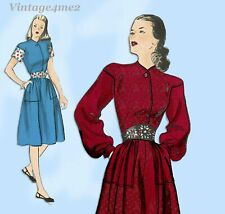 Butterick 3847: 1940s Misses Post Wwii Dress Sz 32 B Vintage Sewing Pattern