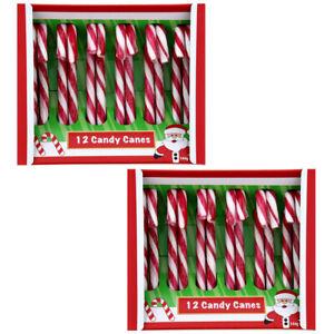 24 Stück Zuckerstangen Bonbons essbar Zuckerstange Candy Canes Süssigkeiten Deko