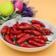 Artificial Lifelike Mini Red Chili Peppers 50 pcs Fake Vegetables Crafts Decor