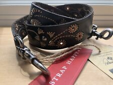 Patricia Nash Guitar Strap Happy Embroidery Gs Bella Vista New Black Leather