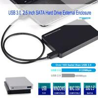 "USB 3.0 to SATA Hard Drive Enclosure Caddy Case For 2.5"" Inch HDD/SSD External"