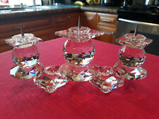 "Swarovski Candelabra ""Three Candle Holders"" ""Stunning"""