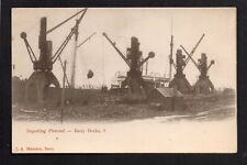 Barry Docks - Importing Pitwood - printed postcard