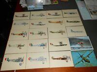 CARTOLINE PUBBLICITARIA SERIE DI CARTOLINE aerei d'epoca
