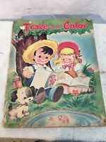 Vintage Trace And Color Book Whitman Publishing Trace Picture Book