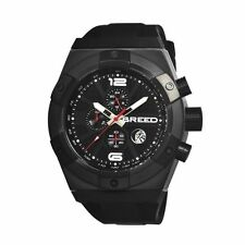 Breed Titan Men's Stainless steel Watch Chronograph black New