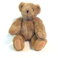 "The Vermont Teddy Bear Company 15"" Brown Jointed Plush Stuffed Teddy Bear"