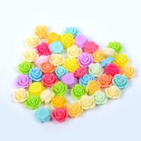 Resins Beads Rose Flower Flat Back Embellishment Cabochons Craft Decoden