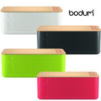 Bodum Bistro Bread Bin With Bamboo Copping Board Storage Box