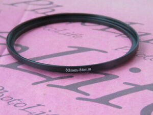 82mm to 86mm Stepping Step Up Filter Ring Adapter 82mm-86mm