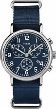 Timex Weekender Chrono Watch TW2P71300 , Nylon strap and Indiglo Night Light