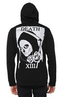 RUDE XIII 13 DEATH SICKLE ROSES ZIPPER HOODIE SWEAT JACKET MENS DAD FATHERS GIFT