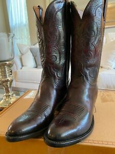 Lucchese Classic's Men's Hand Made Black Cherry Western Cowboy Boots 9 D NEW!