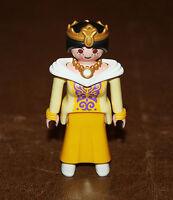 Playmobil personnage reine robe jaune festin royal princesse 3021 ref nn