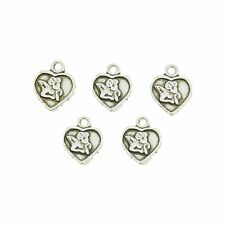 5 Silver Plated Cupid Charms ideal for Jewellery Making