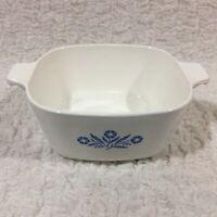 Vintage Corning Ware Blue Cornflower 1 3/4 Quart Casserole Dish PYROCERAM