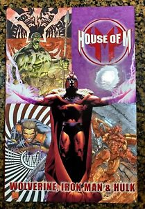 HOUSE OF M Wolverine, Iron Man & Hulk Deluxe Hardcover. Glossy! Ships with care!