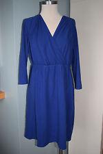 Lands' End L petites size 14 -16 blue knit modal dress Excellent b90