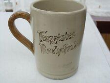 Chope en grès clair publicitaire pour la bière Trappistes de Rochefort