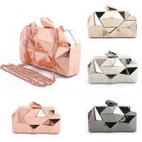 Metal Lattice Women's Evening Bag Clutch Cage Shoulder & Crossbody Bags Handbags